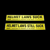 Helmet Law Stickers